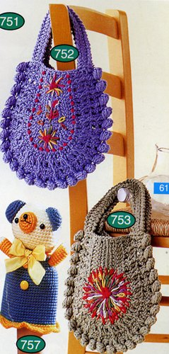 Вязаные детские сумки крючком со схемами