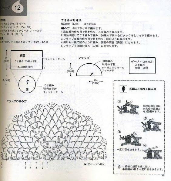 Вязание сумок через плечо схемы 354