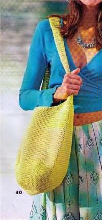 Вязание крючком. Сумка - торба для летнего отдыха.