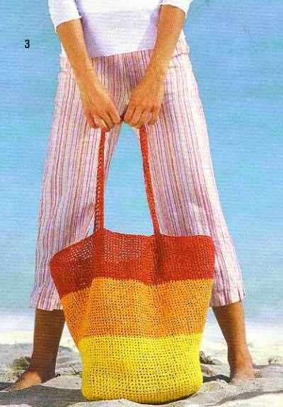Вязание крючком. Пляжная сумка