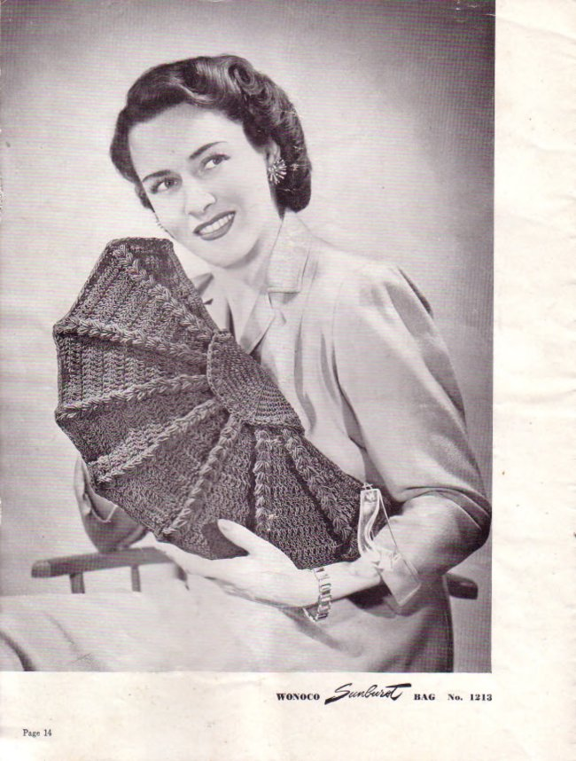 Вязание крючком. Винтажная сумочка.
