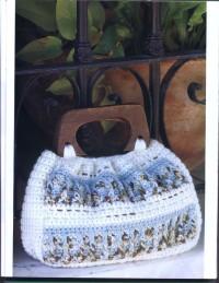 Вязание крючком. Очень красивая и очень несложная в исполнении сумочка.