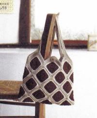 Вязание крючком. Сумка выполненная мотивами