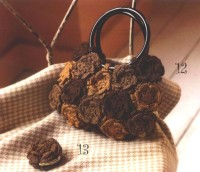 Вязание крючком. Вязаная сумка цветами.