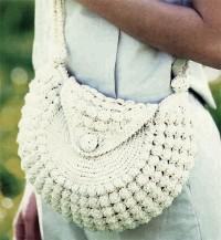 Вязание крючком. Маленькая сумочка, связанная крючком.