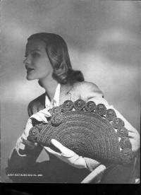 Вязание крючком. Изумительная ретро-сумка (винтаж), связанная крючком.