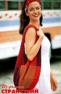 Вязание крючком. Сумка - торба.