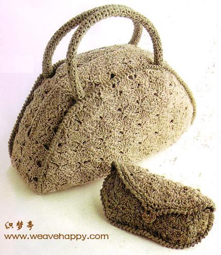 Вязание крючком. Элегантная сумочка.