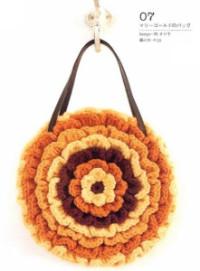 Вязание крючком. Круглая объемная сумочка.