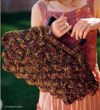 Вязание крючком. Элегантная сумочка из плотной пряжи.