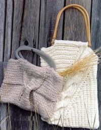 Вязание спицами. Летние сумочки для вечерней прогулки или загородного отдыха.