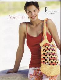 Вязание крючком. Пляжная сумочка - торба.