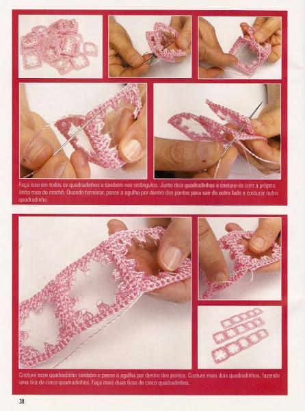 Вязание крючком. Розовый несессер.