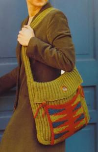Вязание крючком. Городская сумочка для хорошего настроения.