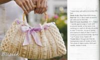 Вязание крючком. Элегантная сумочка, связанная крючком рельефным узором.