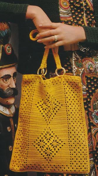 Вязание крючком. Сумки, выполненные в технике филейного вязания.