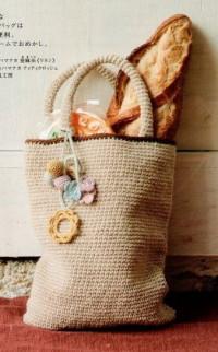 Вязание крючком. Хозяйственная сумка.