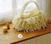 Вязание крючком. Мохнатая сумочка.