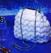 Вязание крючком. Вечерняя сумочка, связанная крючком.
