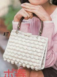 Вязание крючком. Городская белая сумочка.