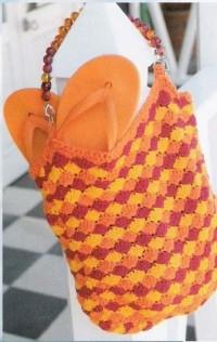 Вязание крючком. Весёлая пляжная сумка.